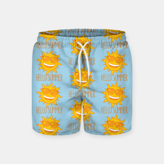 Miniatur Hello Summer Sun With Sunglasses Swim Shorts, Live Heroes