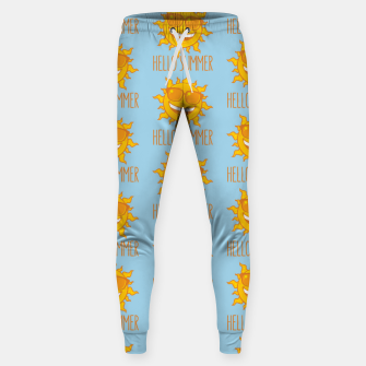 Miniatur Hello Summer Sun With Sunglasses Sweatpants, Live Heroes