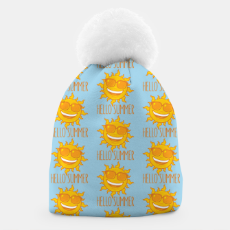 Miniatur Hello Summer Sun With Sunglasses Beanie, Live Heroes