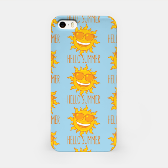 Miniatur Hello Summer Sun With Sunglasses iPhone Case, Live Heroes