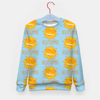 Miniatur Hello Summer Sun With Sunglasses Kid's sweater, Live Heroes