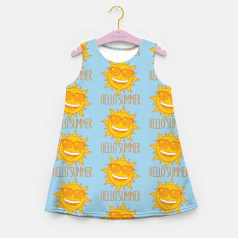 Thumbnail image of Hello Summer Sun With Sunglasses Girl's summer dress, Live Heroes