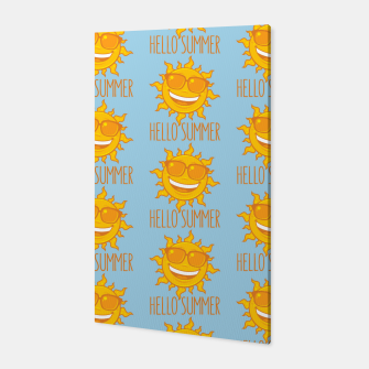 Thumbnail image of Hello Summer Sun With Sunglasses Canvas, Live Heroes