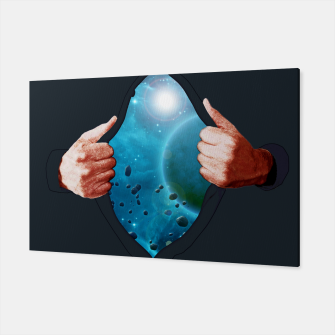 Thumbnail image of Cosmic Shirt Illustration Canvas, Live Heroes