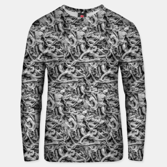 Thumbnail image of Sculpture Collage Pattern Unisex sweater, Live Heroes