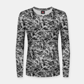 Thumbnail image of Sculpture Collage Pattern Women sweater, Live Heroes