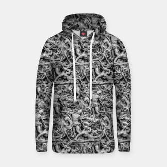 Thumbnail image of Sculpture Collage Pattern Hoodie, Live Heroes