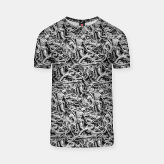Thumbnail image of Sculpture Collage Pattern T-shirt, Live Heroes