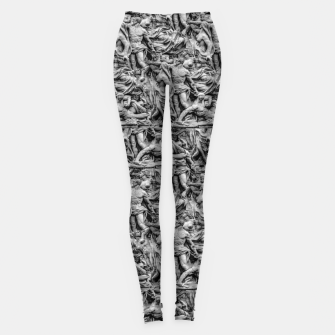 Thumbnail image of Sculpture Collage Pattern Leggings, Live Heroes