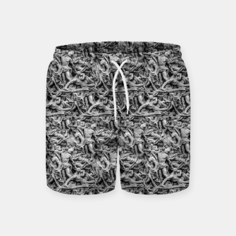 Thumbnail image of Sculpture Collage Pattern Swim Shorts, Live Heroes