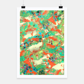Thumbnail image of Colorful Abstract Print Poster, Live Heroes
