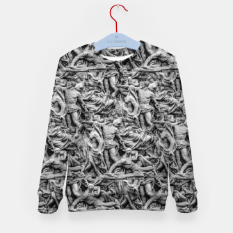 Thumbnail image of Sculpture Collage Pattern Kid's sweater, Live Heroes