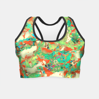 Thumbnail image of Colorful Abstract Print Crop Top, Live Heroes