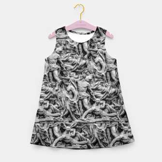 Thumbnail image of Sculpture Collage Pattern Girl's summer dress, Live Heroes