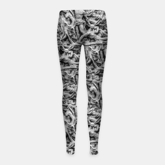 Thumbnail image of Sculpture Collage Pattern Girl's leggings, Live Heroes