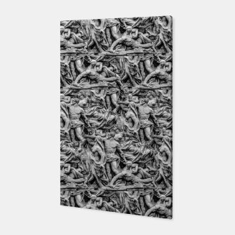 Thumbnail image of Sculpture Collage Pattern Canvas, Live Heroes