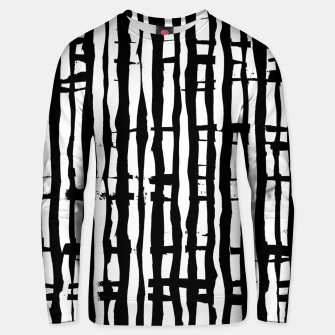 Miniature de image de Black and White Stripes Unisex sweater, Live Heroes