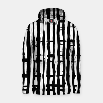 Black and White Stripes Hoodie miniature