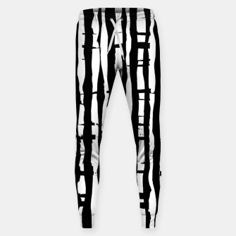 Miniature de image de Black and White Stripes Sweatpants, Live Heroes