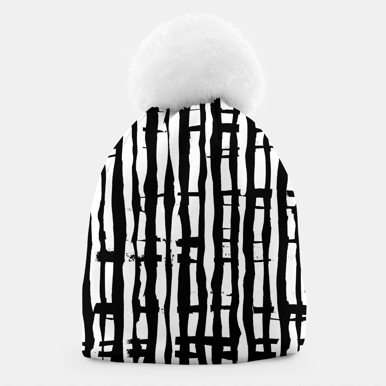 Image de Black and White Stripes Beanie - Live Heroes