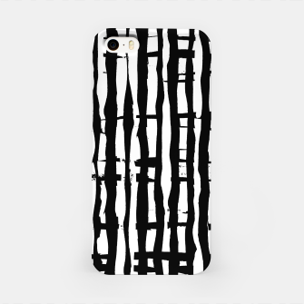 Miniature de image de Black and White Stripes iPhone Case, Live Heroes