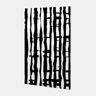 Miniature de image de Black and White Stripes Canvas, Live Heroes