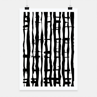 Black and White Stripes Poster miniature