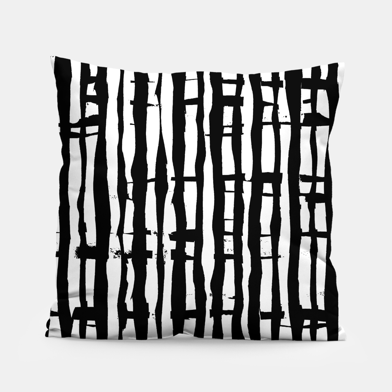 Image de Black and White Stripes Pillow - Live Heroes