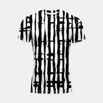Miniature de image de Black and White Stripes Shortsleeve rashguard, Live Heroes