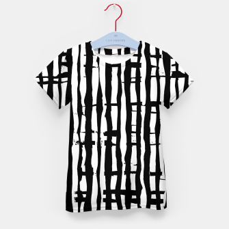 Miniaturka Black and White Stripes Kid's t-shirt, Live Heroes