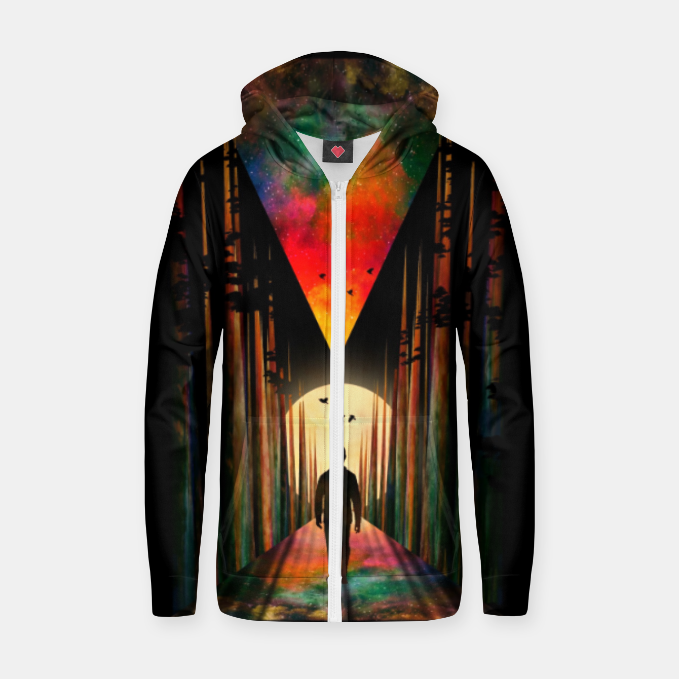 Image of Chasing Sunset Zip up hoodie - Live Heroes