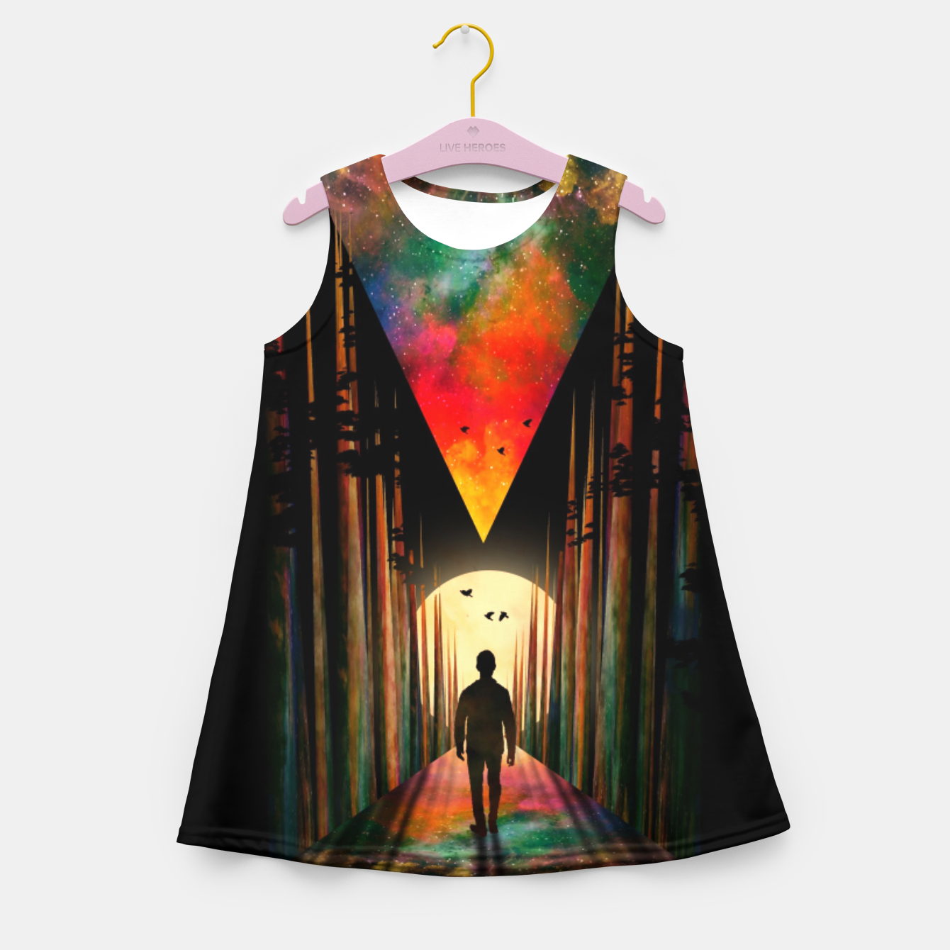 Image of Chasing Sunset Girl's summer dress - Live Heroes
