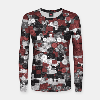 Miniaturka Photographer's camouflage Women sweater, Live Heroes