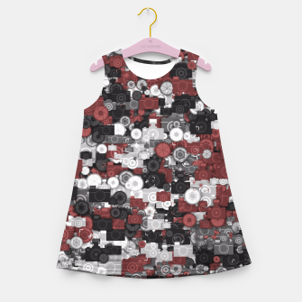 Miniaturka Photographer's camouflage Girl's summer dress, Live Heroes