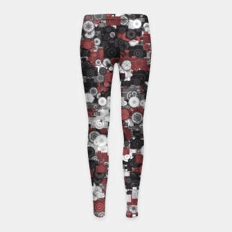 Miniaturka Photographer's camouflage Girl's leggings, Live Heroes
