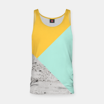 Miniaturka Yellow and Mint meets Concrete Geometric #1 #minimal #decor #art  Muskelshirt , Live Heroes