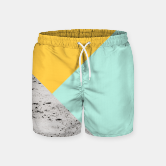 Miniaturka Yellow and Mint meets Concrete Geometric #1 #minimal #decor #art  Badeshorts, Live Heroes