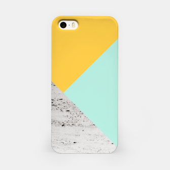 Miniaturka Yellow and Mint meets Concrete Geometric #1 #minimal #decor #art  iPhone-Hülle, Live Heroes