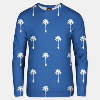 Miniatur Palm silhouettes on blue Unisex sweater, Live Heroes