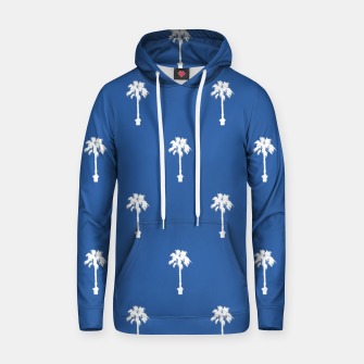 Miniatur Palm silhouettes on blue Hoodie, Live Heroes