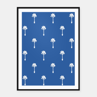 Thumbnail image of Palm silhouettes on blue Framed poster, Live Heroes