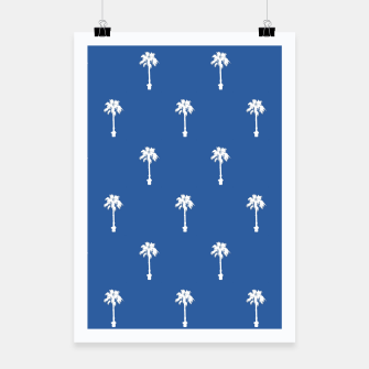 Thumbnail image of Palm silhouettes on blue Poster, Live Heroes