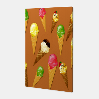Thumbnail image of Ice cream cones-Brown Canvas, Live Heroes