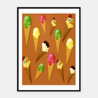 Thumbnail image of Ice cream cones-Brown Cartel con marco, Live Heroes