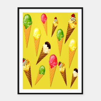 Thumbnail image of Ice cream cones -Yellow Cartel con marco, Live Heroes