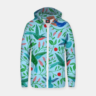 Thumbnail image of Hummingbirds Zip up hoodie, Live Heroes