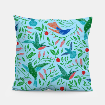 Thumbnail image of Hummingbirds Pillow, Live Heroes