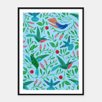Thumbnail image of Hummingbirds Framed poster, Live Heroes