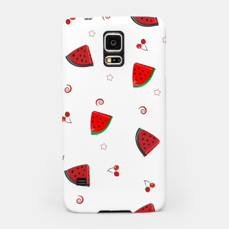 Thumbnail image of Watermelon slices and cherries cute fruity pattern Samsung Case, Live Heroes