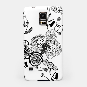 Thumbnail image of White Out Blooms hand drawn orchid and abstract flowers pattern  Samsung Case, Live Heroes